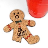 Oh Snap! Gingerbread Man Cork Coasters (Set of 4)