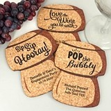 Personalized Cork Stopper-Shaped Theme Cork Coasters (15 Colors)