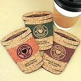 Personalized Coffee Cup-Shaped Theme Cork Coasters (15 Colors)