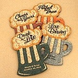 Personalized Beer Mug-Shaped Theme Cork Coasters (15 Colors)