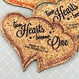 Personalized Double Hearts-Shaped Theme Cork Coasters (15 Colors)