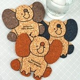 Personalized Baby-Elephant-Shaped Baby Shower Cork Coaster (15 Colors)
