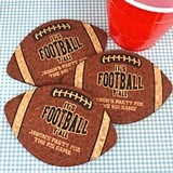Ducky Days Personalized Football-Shaped Cork Coasters (4 Designs)