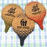 Ducky Days Personalized Golf Ball-Shaped Cork Coasters (2 Designs)