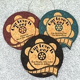 Personalized Movie Film Reel-Shaped Cork Coasters (15 Colors)