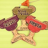 Personalized Margarita Glass-Shaped Cork Coaster (5 Sayings/15 Colors)