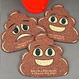 Personalized Poop Emoji Expressions-Shaped Cork Coaster