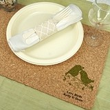 Personalized Eco-Friendly Natural-Cork Placemats (125 Designs)
