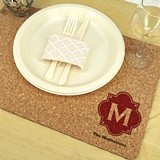 Monogrammed Eco-Friendly Natural-Cork Placemats (17 Designs)