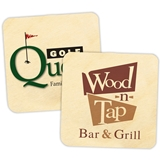 Custom Corporate Logo Birch-Wood Square Coasters