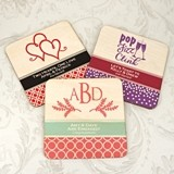 Ducky Days Personalized Birch Wood Square Coasters (64 Designs)
