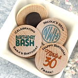Ducky Days Personalized Wooden Nickel Magnets (Adult Birthday Designs)