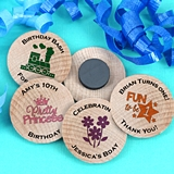 Ducky Days Personalized Wooden Nickel Magnets (Kids Birthday Designs)
