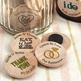 Personalized Wooden Nickel Magnets (125 Designs)