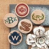 Monogrammed Wooden Nickel Magnets (17 Designs)