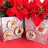 Ducky Days Personalized Wooden Nickel Magnets with Holiday Designs