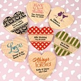 Ducky Days Personalized Wooden Hearts