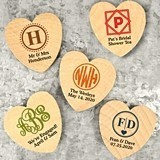 Ducky Days Personalized Heart Shaped Wooden Magnets