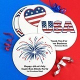Personalized Patriotic White Paper-Board Coasters (20 Designs)