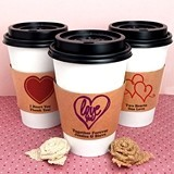Ducky Days Personalized Insulated Cup Sleeves with Wedding Designs