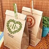Monogrammed Kraft-Paper Goody Bags (17 Designs)