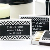 Personalized Matchboxes with Silhouette Designs (Set of 50)
