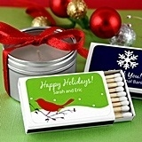 Personalized Holiday Matchboxes (24 Designs) (Set of 50)