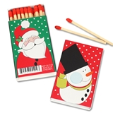 Snowman and Santa Holiday Matchboxes (Set of 25)