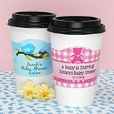 Ducky Days Personalized Cup Sleeves with Baby Shower Designs