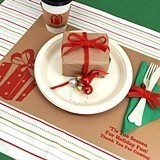 Personalized Holiday Kraft-Paper Placemats (25 Designs)