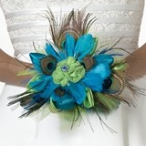 Lillian Rose Peacock Motif Bouquet
