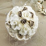 Lillian Rose Taupe Rose Bouquet