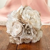 Lillian Rose Charming Burlap Flower Bouquet