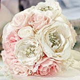 Lillian Rose Chic and Shabby Blush Bouquet