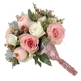 Lillian Rose Rose Gold-Colored Jeweled Bouquet Holder