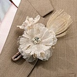 Lillian Rose Handsome Burlap Boutonniere