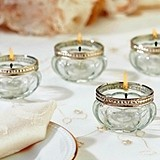 Lillian Rose Vintage-Inspired Glass Tealight Cups (3 Colors)(Set of 4)
