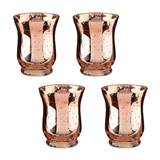 Lillian Rose Copper Tulip-Shaped Mercury Glass Votive Holders (Set of 4)