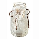 Lillian Rose Rustic Lace Large Mason Jar Covers (Set of 4)