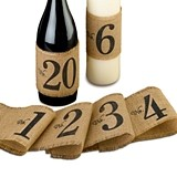 Lillian Rose Burlap Table Number Wraps (Numbers 1-20)