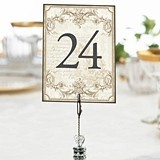 Lillian Rose Double-Sided Vintage Gold Table Numbers (Numbers 1 - 24)