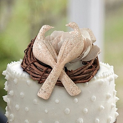 lillian rose lillian rose doves cake pick with stone. Black Bedroom Furniture Sets. Home Design Ideas
