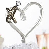 Lillian Rose Wedding Rings-Topped Heart-Shaped Cake Pick