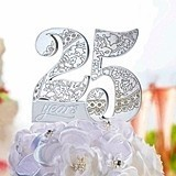 Lillian Rose 25th Anniversary Cake Pick