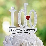 "Lillian Rose ""I Do Today and Always"" Cake Pick"