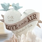 """Personalized Heart-Shaped """"Love is in the Air"""" Cake Top"""