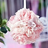 Lillian Rose Blush Pink Flower Ball with Ribbon
