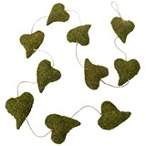 Lillian Rose Pastoral Moss Heart Garland