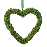 Lillian Rose Moss Décor Hanging Heart