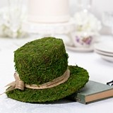 Lillian Rose Whimsical Moss Top Hat Decoration